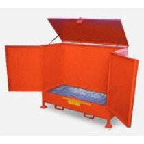 Top-Tec AMDV2D (Previously A-VD2-D) 2 x 235 Litre Drum Vertical Outdoor Storage - AMDV2D