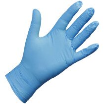 Top Man Blue Powder Free Disposable Nitrile Glove (Pack of 100)