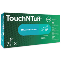 Ansell 92-500 TouchNTuff Gloves Nitrile Green (Box of 100)