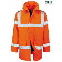 Orbit Tristan Hi Viz Jacket High Visibility Waterproof Fabric - Orange