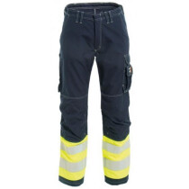 "Tranemo 5821 81 FR Flame Retardant Hi-Vis Trousers - Yellow/Navy 38"" Regular"