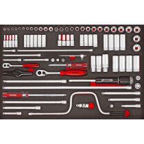 "Teng Tools TTESK86 86 Piece 1/4"" & 3/8"" Drive EVA Socket Set"