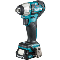 Makita TW160DSAJ 12Vmax Brushless Impact Wrench CXT with 2 x BL1021B Battery, 12Vmax Fast Charger & Makpac Type 1 Case