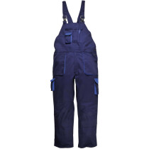 Portwest TX17 Texo Cotton Rich Contrast Bib & Brace Workwear - Lined - Various Colours Available