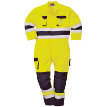 Portwest TX55 Nantes Hi-Vis Coverall Regular - Available in Orange/Navy or Yellow/Navy