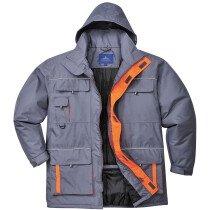 Portwest TX30 Portwest Texo Contrast Rain Jacket Workwear - Grey