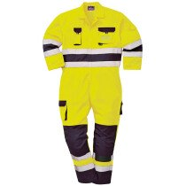 Portwest TX55 Nantes Hi-Vis Coverall Flame Resistant Regular