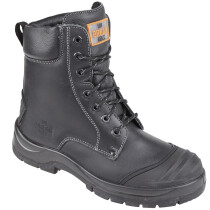 Unbreakable 8104 Demolition Black Leather Safety Combat Boot S3 SRC
