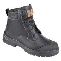 Unbreakable 8103 Trench-Pro Black Leather Safety Ankle Boot S3 SRC
