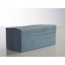 Lawson-HIS IFB5000 1-Ply Interfold V-Fold Blue Hand Towel x 5,000