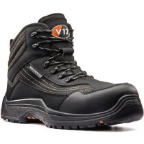 V12 Footwear V1501.01XL Extra Large Caiman Black Metal Free Safety Boot S3 HRO WR SRC