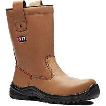 V12 Vtech V6816.01 Polar STS Tan Fur Lined Leather Safety Rigger Boot S1P SRC