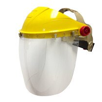 Iles SE32 Spherical Clear Face Shield Impact Visor with Browguard Harness