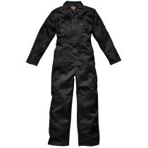 """Dickies WD4839-T Zip Front Redhawk Boilersuit Coverall - Black - SIZE 42"""" Tall - Clearance Item"""