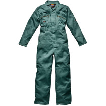 """Dickies WD4839-T Zip Front Redhawk Boilersuit Coverall - Lincoln Green - SIZE 48"""", Tall Leg"""