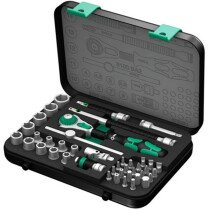"Wera 003533 Zyklop 1/4"" Drive Socket Set 42 Piece Metric WER003533"