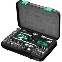 "Wera 003533 Zyklop 1/4"" Drive Socket Set 42 Piece Metric WER003533"