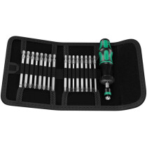 Wera 05059293001 Kraftform Kompakt 60 Torque Screwdriver Set 17 Piece