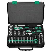 "Wera 8100 SA/SC 2 Zyklop 1/4"" & 1/2"" Drive Metric Socket Set 43 Piece 05160785001"