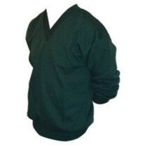 Whytes WH09 (S) V-Neck Sweatshirt - Bottle Green SMALL