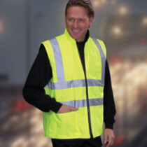 Yoko HV008F Hi-Vis Reversible Fleece Lined Vest Hi-Vis Yellow