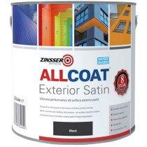 Zinsser ZN7200003C1 AllCoat® Exterior Satin Black 2.5 litre Paint ZINACEBK25L