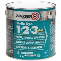 Zinsser ZN7170001C1 Primer - Sealer Bulls Eye 123 Plus 2.5 Litre ZINBE123P25L