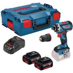 Bosch GSR 18V-60 FCC Flex Flexiclick Drill Driver With Chuck (2x5.0Ah) In L-Boxx