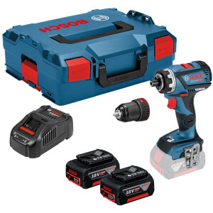 Bosch GSR 18V-60 FCC Flex Flexiclick Drill Driver With Chuck (2x5.0Ah) In L-Boxx