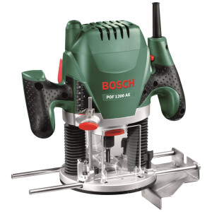 """Bosch POF 1200 AE 1200W 1/4"""" & 8mm Plunge Router POF1200AE"""