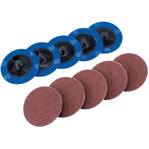 Pack of 5 Draper 58617 115 mm 60-Grit Aluminium Oxide Sanding Discs
