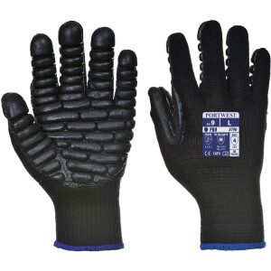 Portwest GL12 Fleece Winter Glove Thinsulate Lined One Size Navy  or Black