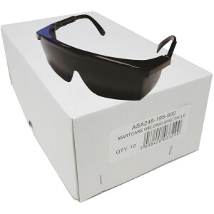 JSP (10 PK) Martcare ASA248-195-900 Wrap-Around Shade 5 Welding Safety Spectacle