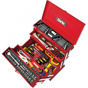 Clarke CHT641 199 Piece DIY Tool Kit with Cantilever Tool Box 1801641