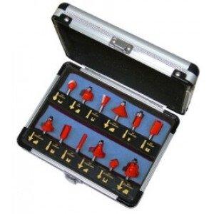 Faithfull FAIRBS12 Router Bit Set of 12 TCT Pieces 1/4in Shank