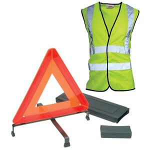 JSP HBT300-040-600 Pro-Basic Motorist Warning Triangle and Waistcoat Safety Kit