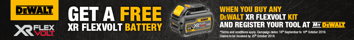 DeWalt Flexvolt Offer