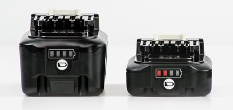 image of batteries with gauge