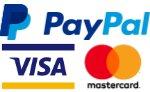 Accepting PayPal, Mastercard and Visa