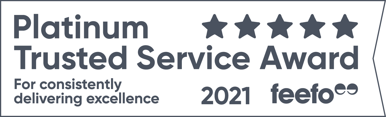 Feefo 2021 Platinum Service Award